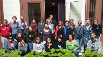 TrainerInnen und TeilnehmerInnen des PEARLS Teacher Training Course in Budapest April 2017