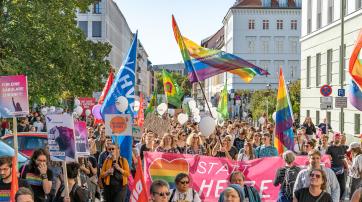 Gegendemo zum Marsch für das Leben des Bündnisses für sexuelle Selbstbestimmung