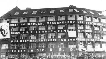 Das Karl-Liebknecht-Haus zur Reichstagswahl 1930