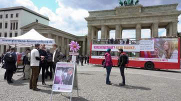 Der Bus am Brandenburger Tor