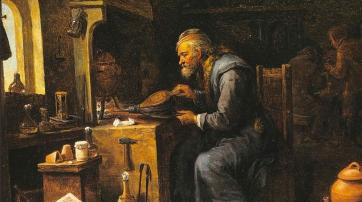 Der Alchemist - Gemälde von David Teniers dem Jüngeren