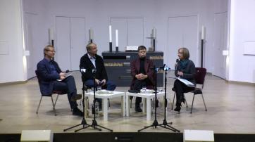 Dr. Frank Vogelsang, Reinhard Wiesemann, Helmut Fink, Hella Blum (v. l.)