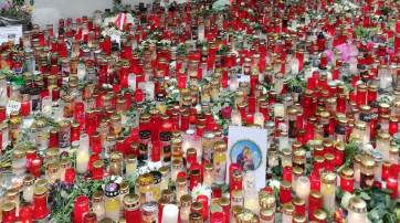 Gedenken zum Terroranschlag in Wien am Ruprechtsplatz