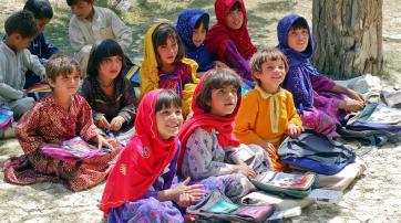 Jungen und Mädchen lernten in Afghanistan zuletzt gemeinsam