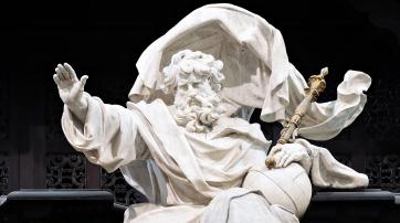 Gott in der St. Salvator-Kathedrale in Brügge