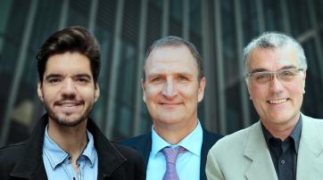 Adriano Mannino, Lutz Jäncke und Thomas Metzinger (v.l.n.r.)