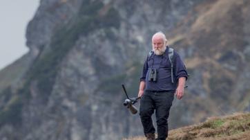 Hans-Günther Bauer während Kartierungen in den Alpen