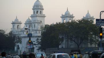 Das Parlamentsgebäude in Hyderabad