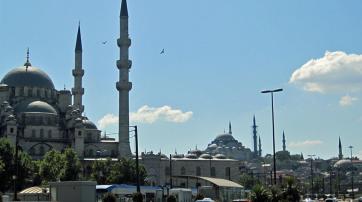 Moscheen und Minarette in Istanbul