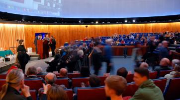 Das Nürnberger Planetarium war gut gefüllt