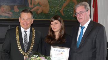 Thomas Spies (OB), Katharina Nocun, Egon Vaupel (OB a.D.)