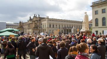 Auftaktveranstaltung beim March for Science 2017 in Berlin