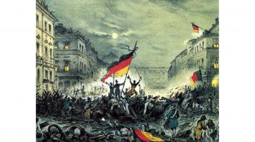 Historisches Bild zur Märzrevolution 1848