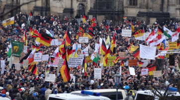 Pegida-Demo in Dresden