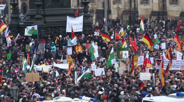 Pegida-Demonstration am 25. Januar 2015 in Dresden