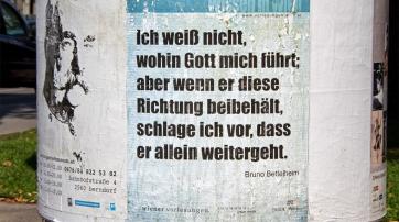 Plakat in Wien
