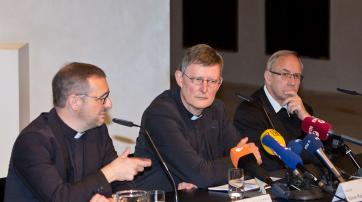 Rainer Maria Woelki mit Norbert Feldhoff und Stefan Heße