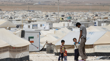 Syrische Flüchtlinge im jordanischen Flüchtlingslager Zaatari