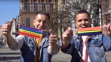 Das schwule Aktivisten-Paar Jakub Kwiecinski und Dawid Mycek