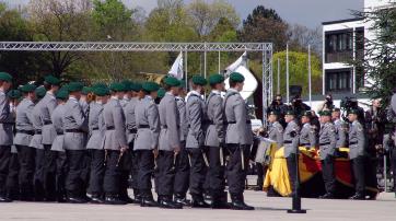 Die Bundeswehr bei einem Staatsakt.