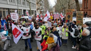 Warnstreik der Mitarbeiter*innen des HVD Berlin-Brandenburg am 11. 03.2020 in Berlin.