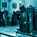 offene Beichtstühle in der Kirche Gesù Nuovo, Neapel