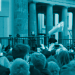 """Greta Thunberg spricht auf einer Kundgebung der """"Fridays For Future"""" vor dem Brandenburger Tor."""