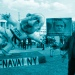 Jacques Tilly mit seiner Nawalny-Figur